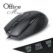 Ποντίκι Office με Καλώδιο (Μαύρο)