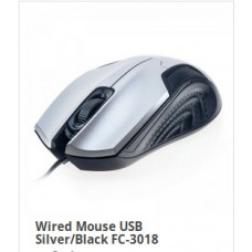 Wired Mouse USB Silver/Black FC-3018